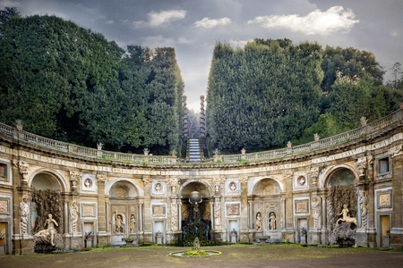 Villa Aldobrandini in Frascati. Theater of the Waters, Rome. italy