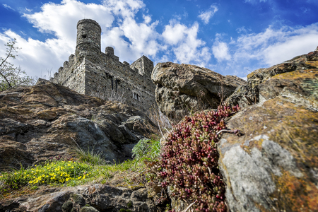 Ussel Castle in Chatillon in Aosta Valley, Italy Editorial