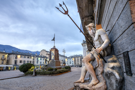 Aosta. Piazza Emile Chanoux is the main square in Aosta. It is located in the central part of the city. Val d'Aosta, Italy