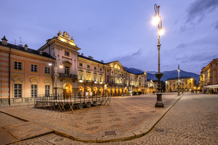 Aosta. Piazza Emile Chanoux is the main square in Aosta. It is located in the central part of the city. Val dAosta, Italy