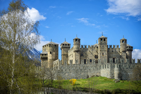 The Fenis Castle in Aosta Valley, Italy Editorial