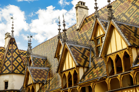 The Hospices of Beaune (historic hospital). Beaune, Burgundy, France
