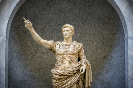 Vatican City, Vatican Museums - Roman sculpture: Statue of the Augustus of the First Door. Rome, Italy
