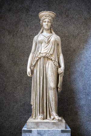 Vatican City, Vatican Museums - Roman sculpture: Statue of Caryatid. Rome, Italy Editorial