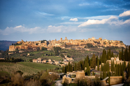 Beautiful view of the old town of Orvieto, Umbria, Italy