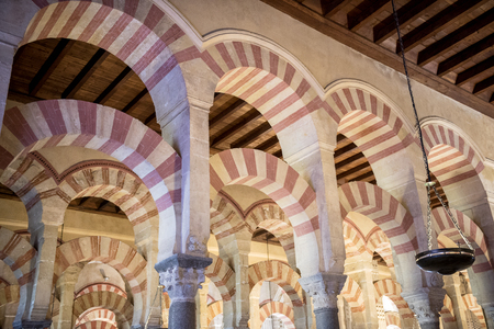 CORDOBA. The Great Mosque or Mezquita famous interior in Cordoba, Spain Stock Photo