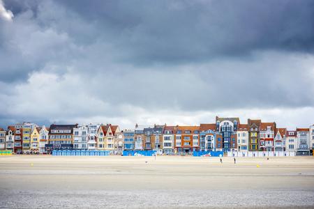 Dunkirk - Malo Les Bains, beach resort of Dunkirk. Nord Pas de Calais, France. Editorial
