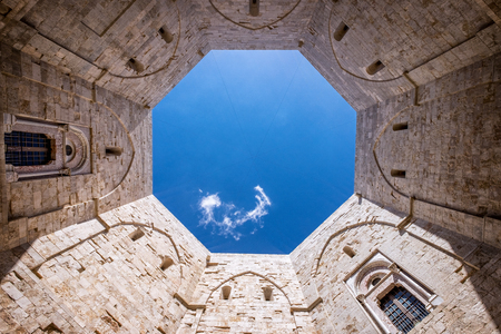 ANDRIA- Castel del Monte, the famous castle built in an octagonal shape by the Holy Roman Emperor Frederick II in the 13th century in Apulia, southeast Italy. italy