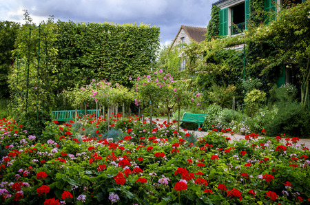 Monet's Gardens and House at Giverny, Normandy, France Foto de archivo
