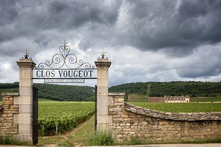 Burgundy, Chateau du Clos de Vougeot and vineyards. france Archivio Fotografico - 108373144