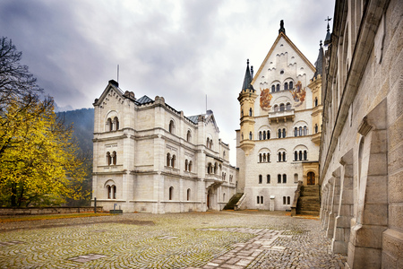 The famous Neuschwanstein Castle in autumn. Bavaria, Germany.