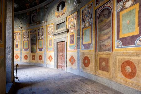 The Villa Farnese (in Italian Palazzo Farnese), in mansion in the town of Caprarola near Viterbo, Northern Lazio, Italy,