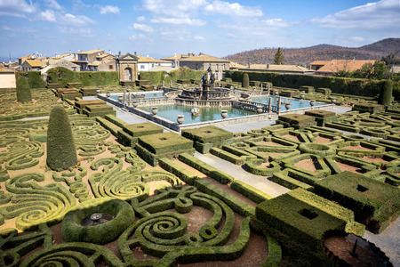 Bagnaia: Villa Lante at Bagnaia is a Mannerist garden of surprise, near Viterbo, Italy. Stock Photo - 114451592