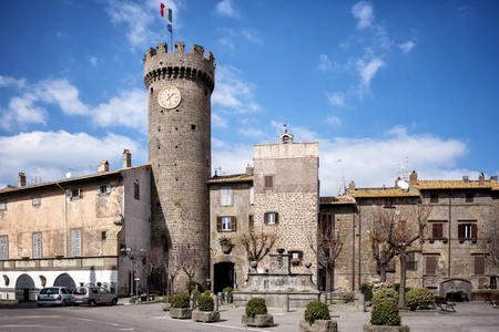 Bagnaia, little italian village, is a fraction of Viterbo. Famous for its garden Mannerist Villa Lante. Lazio, Italy