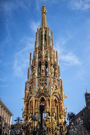 Beautiful Fountain in Nuremberg, Germany