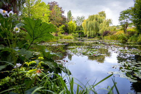 Monets Gardens and House at Giverny, Normandy, France Stok Fotoğraf