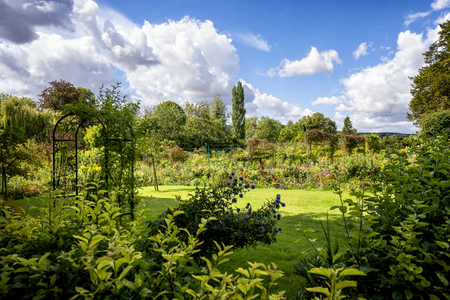 Monets Gardens and House at Giverny, Normandy, France Stockfoto