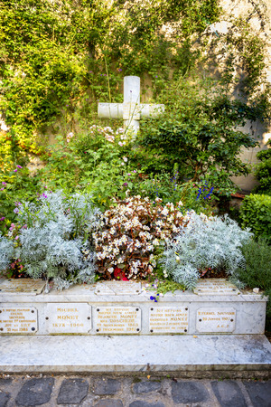 Tomb where Claude Monet rests at Giverny, Normandy, France