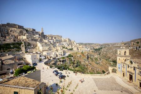 Matera, historic center. Basilicata, Italy. Stockfoto