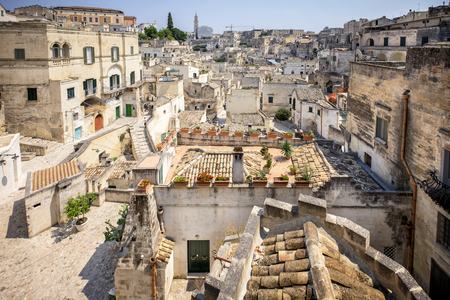 Matera, historic center. Basilicata, Italy. Redactioneel