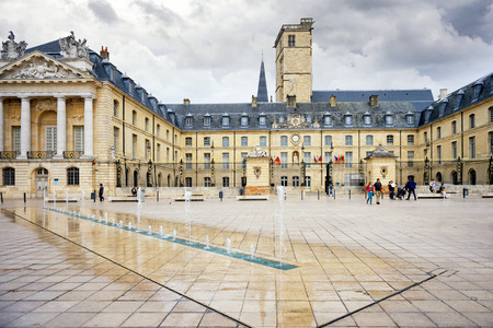 Liberation Square and the Palace of the Dukes of Burgundy in the Dijon, France.