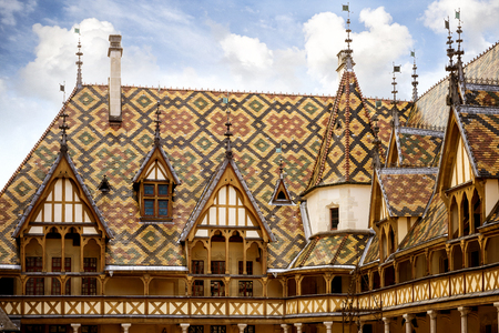 LHotel-Dieu or the Hospices of Beaune (historic hospital), in Beaune, Burgundy, France