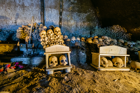 Fontanels cemetery, Cimitero delle Fontanelle of Naples it is perhaps one of the most mysterious places in the city of Naples. Italy