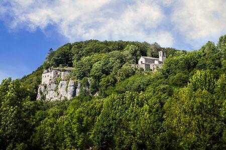 La Verna, Franciscan Sanctuary, in Tuscany, Italy. 免版税图像
