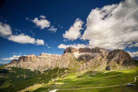 Sass Pordoi. You can also see the Piz Boe. Trentino Alto Adige, Italy Foto de archivo