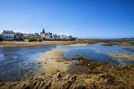 The town of Roscoff in coast of the north of France. Finistere, France