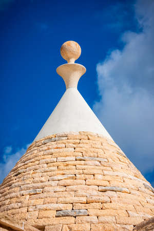 Detail of roofs the trulli houses in Val d'Itria.