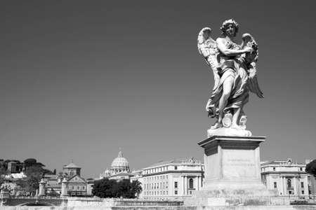 angel statue rome italy photo