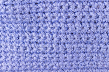 Handmade blue knitting wool texture background