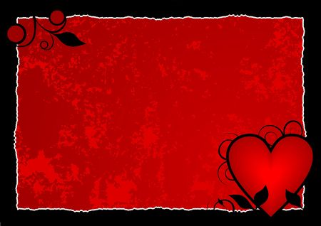Red hot heart background ready for your message of ... Stock Photo