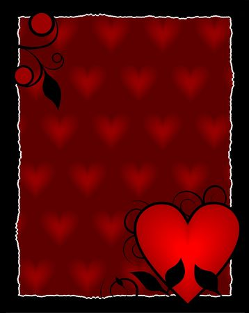 Multi heart background, ready for your message of ... Stock Photo - 600571