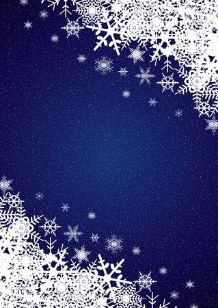 Winter night snowfall scene photo