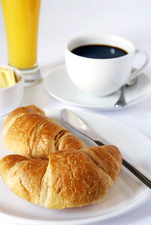 perk: continental breakfast of coffee, orange juice and croissants