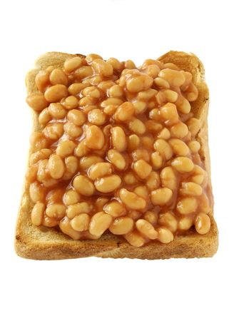 baked beans served on toast Stock Photo - 1861739