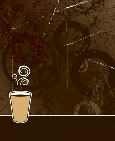 java: black coffee to go on coffee colored grunge background