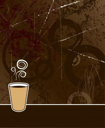 caf� � emporter: Caf� noir pour aller au caf�, couleur de fond grunge
