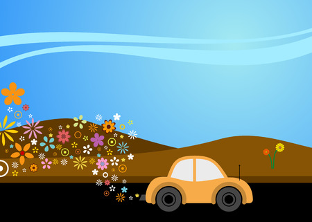 catalyst: vector illustration of a carusing environmentally good fuel