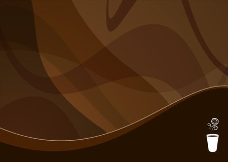 ideal: coffee wave background ideal for menus - landscape version