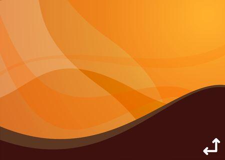 simplicity: orange wave background ideal for presentations - landscape version