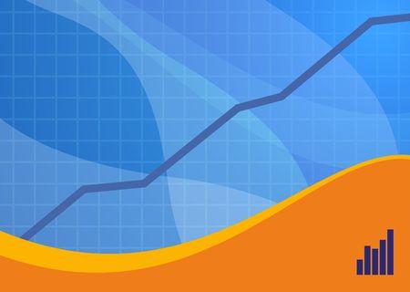 Blue and orange sales background ideal for presentations - landscape version photo