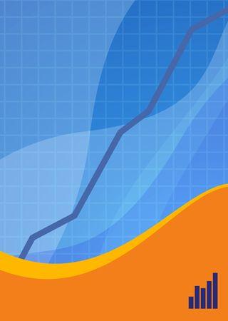 Blue and orange sales background ideal for presentations - portrait version photo