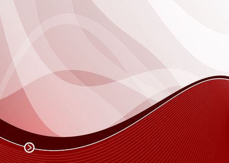 simplicity: Red wave background ideal for presentations - landscape version