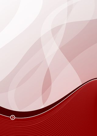 Red wave background ideal for presentations - portrait version Stock Photo - 2420869