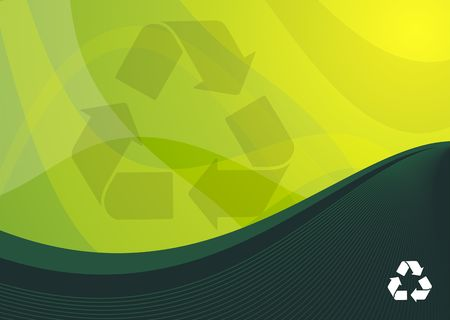 Green recyle background ideal for presentations - portrait version