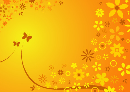 abstract background of spring  summer flowers Vector