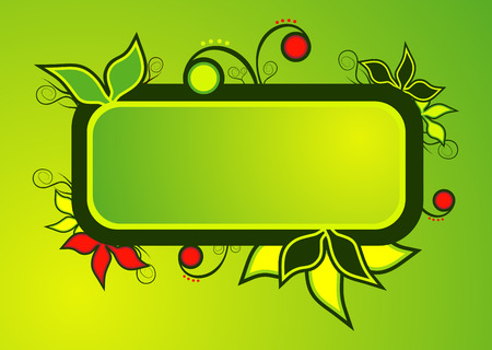 vector illustration - beautiful leaf text panel Stock Vector - 3066201